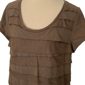 Ann Taylor LOFT Tiered Ruffle T-Shirt
